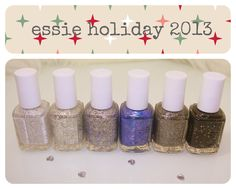 Essie's Encrusted Treasures Holiday 2013 Collection- which is your favorite color?