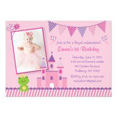 Princess Castle Frog Birthday Invitation