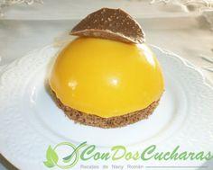 ConDosCucharas.com Semiesferas de mango y chocolate - ConDosCucharas.com