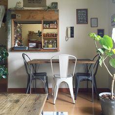 ダイニングテーブル/いなざうるす屋さん/アイアン脚テーブル/サビ好き部/足場板…などのインテリア実例 - 2016-06-13 22:06:00 | RoomClip(ルームクリップ)