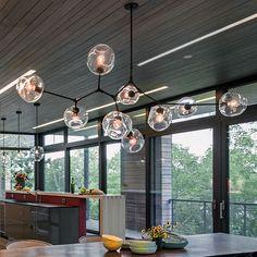 Lindsey adelman pendant lights e27 branching cobre glass lampshade led lamp loft lustre lampen lamparas lampe deco luminaire hot