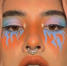 eye makeup art drawings make up ; Cute Makeup Looks, Makeup Eye Looks, Eye Makeup Art, Crazy Makeup, Skin Makeup, Eyeshadow Makeup, Eyeliner, Beauty Makeup, Eyeshadow Designs