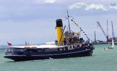 Auckland Anniversary, Auckland New Zealand, Tug Boats, Steam Engine, Beautiful Scenery, Yachts, Portal, Fun Facts, Ships