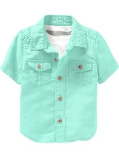 Old Navy | Linen-Blend Button-Front Shirts for Baby