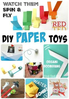 DIY Paper Toys - here over 12 fantastic paper toys the kids can make and play with. We love how versatile and fun paper can be!!