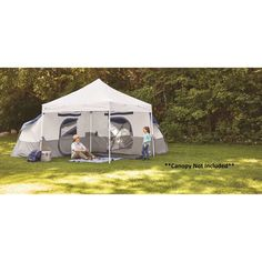Ozark Trail 8-Person Tube Tent - Walmart.com - Walmart.com Ozark Tent, How To Store Carrots, Tent Storage, Tent Weights, Pass Through Window, 8 Person Tent, Camping Shelters, Instant Tent, Tent Set Up