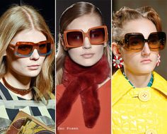 Square shaped sunglasses: Fall/ Winter 2015-2016 Eyewear Trends - Fashionisers