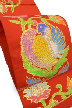 【龍村製】 特選正絹手織本袋帯 「鳩礼文」
