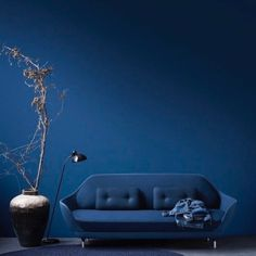 This pantone blue sofa is the perfect trendy addition to any modern interior design project. Discover a limited edition of 9 furniture pieces designed with Pantone Blue and get a FREE E-BOOK on how to use the pantone color for home decor. Bleu Pantone, Pantone Azul, Pantone Colour Palettes, Pantone 2020, Pantone Color, Blue Colour Palette, Blue Color Schemes, Color Blue, Elements Of Design