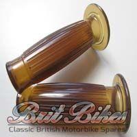 """Replica 7/8"""" Beston type Handlebar Grips in Gel Brown"""