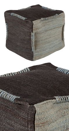 Allow for bouts of spontaneity with this wonderfully versatile Korin Pouf. Cozily woven from 100-percent jute, this square pouf will prove a handy occasional seat or a comfortable footrest. Handsomely ...  Find the Korin Pouf, as seen in the Hip Urban Loft  Collection at http://dotandbo.com/collections/hip-urban-loft?utm_source=pinterest&utm_medium=organic&db_sku=119726