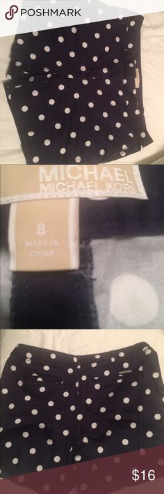 Shorts Michael  Michael Kors navy with white polka dots shorts, side pockets in front, two horizontal pockets on back MICHAEL Michael Kors Shorts