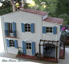 Mediterranean dollhouse with contemporary style -- also has gorgeous kitchen.