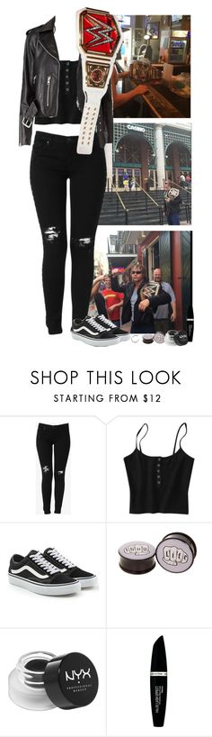 """""""exploring new Orleans with dean"""" by fall0uterin ❤ liked on Polyvore featuring WWE, Hudson Jeans, Vans, Hot Topic, NYX and Max Factor"""