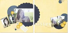 Sisters #scrapbook layout from #CTMH