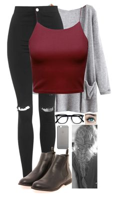 """""""Untitled #1368"""" by erika-demass ❤ liked on Polyvore featuring Topshop, Boohoo and Native Union"""
