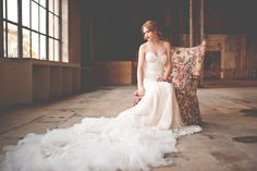 Ruffled - photo by Christina Block Photography http://ruffledblog.com/industrial-romantic-fall-wedding-inspiration