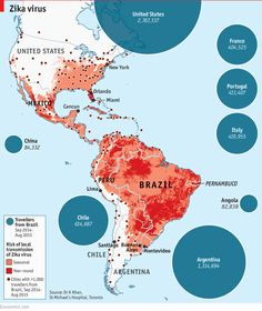 theeconomist:   Daily chart:    Zika virus is... - Maps on the Web