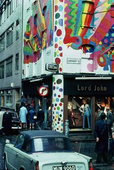 London was swinging in the Sixties.  And the street with the hippest styles, the newest trends, the coolest threads was Carnaby Street.