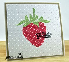 Waltzing Mouse Stamps set—Big Berries - Strawberries