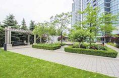 1 Bed Apartment at 30 Harrison Garden Blvd Canada Real Estate, Sidewalk, Bed, Garden, Garten, Stream Bed, Side Walkway, Lawn And Garden, Walkway