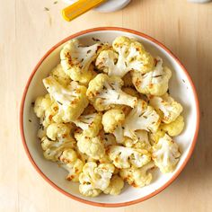 Roasted Rosemary Cauliflower Recipe -Roasting the cauliflower really brings out its flavor in this side dish. Even folks who aren't cauliflower lovers like it this way. —Joann Fritzler, Belen, New Mexico