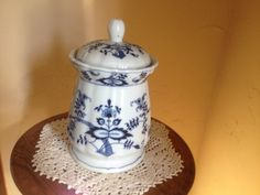 Vintage Lovely Blue Danube Onion  Large Canister