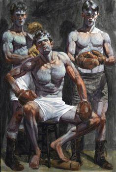 The Proletarian Art Snob: Daniel Gauss: Art as ruse: Bruce Sargeant (aka Mark Beard) at ClampArt Guy Drawing, Painting & Drawing, Figure Painting, Figure Drawing, Figurative Kunst, Beard Art, Plakat Design, Queer Art, Art Of Man