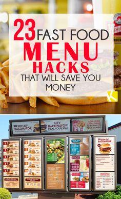 23 Fast Food Menu Ha