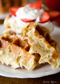 This is the authentic overnight liege waffle recipe, it will give you the most a. - Ashlee Marie - Cakes, Recipes, Crafts and more - Belgian Liege Waffle Recipe, Liege Waffles Recipe, Leige Waffles, Overnight Belgian Waffle Recipe, Beignets, Food Truck, Belgian Food, Belgian Recipes, Belgium Waffles