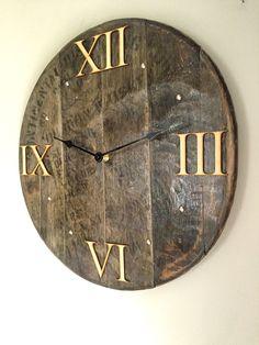 24 Best Whisky Barrel Lid Wall Clock Images Barrel Barrels