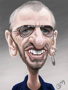 quenalbertini: Ringo Starr by Bruno Munier on Wittygraphy Funny Caricatures, Celebrity Caricatures, Celebrity Drawings, Caricature Artist, Caricature Drawing, Ringo Starr, Cartoon Faces, Funny Faces, Munier