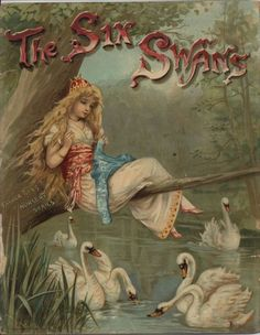 Grace C. Floyd. The Six Swans. Father Tuck's Nursery Series. (book cover)