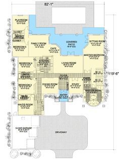 Plan 32223aa Five Or Six Bedroom Florida Home In 2020 Florida Home House Plans One Level Homes