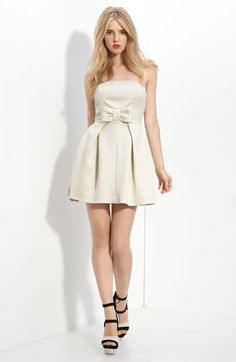 In absolute love with this white dress by Rachel Zoe so happy she is designing!