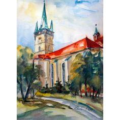 Prešov - Kostol Sv.Mikuláša - Ručne maľovaný obraz