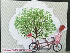 Card 3 I used Stamp Pedal Pusher  SU Markers Rose Red