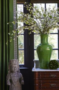 Green and White Chinoiserie