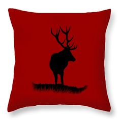 Monarch of the Park - artwork by Linsey Williams  #stagparty #throwpillows #uniquegifts via @lin_dies