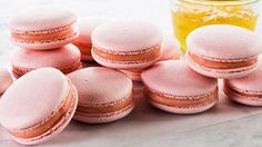 Rose-Champagne Macarons - filled with Rose Buttercream and Champagne Jelly - Professional step by step instructions.