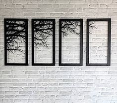 Laser Decor ramo de árvore emoldurada Parede de corte Metal Wall Art Home Bed Room Decor | eBay
