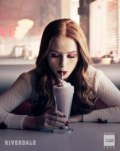 Milkshake for your thoughts? Stream Link in bio. Cheryl Blossom Riverdale, Riverdale Cheryl, Riverdale Cw, Riverdale Funny, Riverdale Memes, Riverdale Poster, Betty Cooper, The Cw, Madelaine Petsch