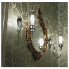 Avila Wall Light with Glass Shade in Chrome Canterbury | Wayfair