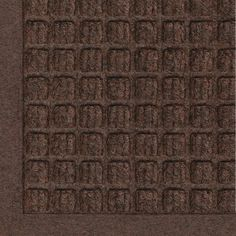 Andersen 280 WaterHog Fashion Polypropylene Fiber Entrance Indoor/Outdoor Floor Mat SBR Rubber Backing 8 Length x 3 Width Thick Dark Brown Outdoor Floor Mats, Indoor Outdoor, Outdoor Decor, Outdoor Flooring, Outdoor Living, Water Dam, Dark Brown Color, Recycled Rubber, Tear