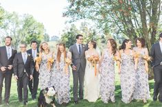 Currently obsessing over these floral bridesmaid dresses! Perfect for a summer wedding  #theknot #theknotvermont : @jharperphoto I Planning: @storiedevents I Flowers: #blommaflicka I Wedding Dress: @juddwaddell I Bridal Salon: @allegriaboston I Bridesmaid Dress: Jessica Simpson Collection for @modcloth I Groom's Suit: @bonobos | Groomsmen Attire: @theblacktux I Venue: Inn at Mountain View Farm via @angela4design