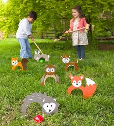 Woodland Croquet Great for family game night and outdoor parties, kids and adults love to play this sweet twist on the backyard classic. family games with kids Outdoor Parties, Outdoor Fun, Outdoor Toys, Outdoor Ideas, Outdoor Crafts, Giant Outdoor Games, Outdoor Party Games, Holiday Gift Guide, Holiday Gifts