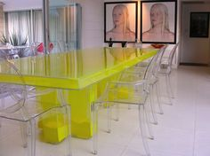 DREAMY TABLE - POWDER PIGMENT-FILLED ACRYLIC Materials: Acrylic ...
