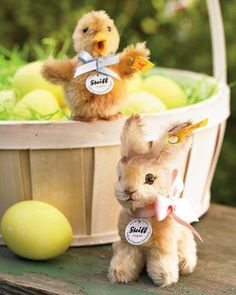 Williams Sonoma Steiff chick and bunny