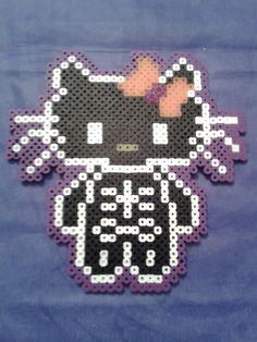 Skeleton Hello Kitty perler beads by sweet-misery788 on deviantART