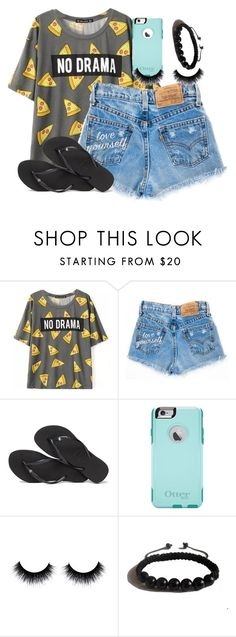 """""""Untitled #810"""" by thefashionsense101 ❤ liked on Polyvore featuring Havaianas, OtterBox and Shamballa Jewels"""